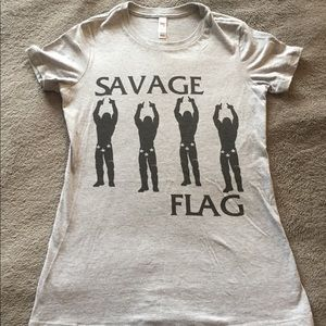 Black flag X Randy savage wwe t shirt